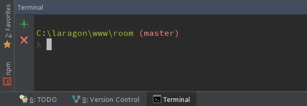 cmder terminal in phpstorm