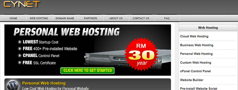 web hosting murah malaysia cynet