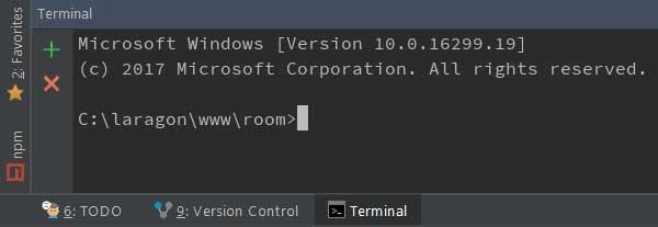 windows terminal in phpstorm