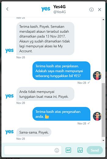 terminate yes4g broadband